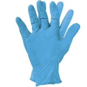 Niebieskie rękawice nitrylowe bezpudrowe